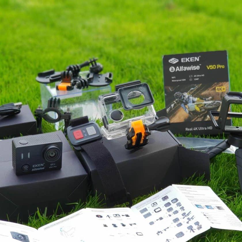 test de la caméra action EKEN Alfawise V50 Pro 4K