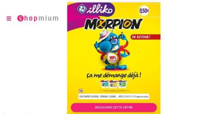 1 carte à gratter Morpion gratuite