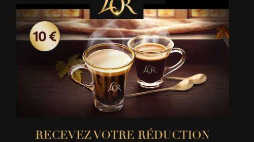 10€ de remise sur le café l'OR