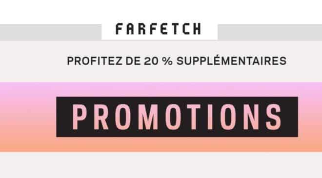20% de remise supplémentaire sur les promos du site Farfetch