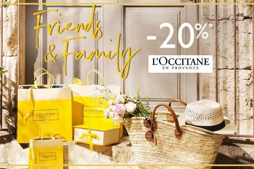 20% de remise sur l'Occitane