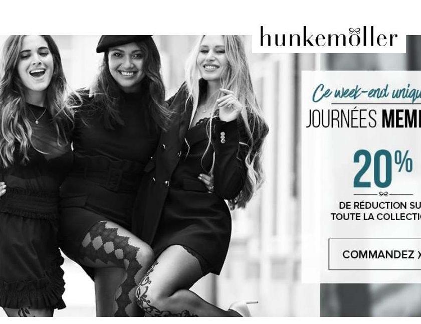 20% de remise sur toute la lingerie Hunkemöller