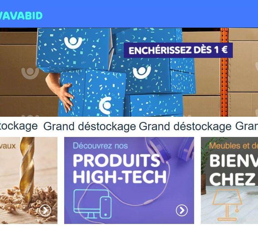 24h de ventes aux enchères Grand déstockage Vavabid