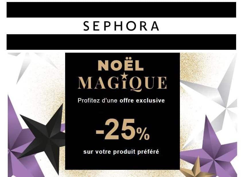 25% de remise sur Sephora