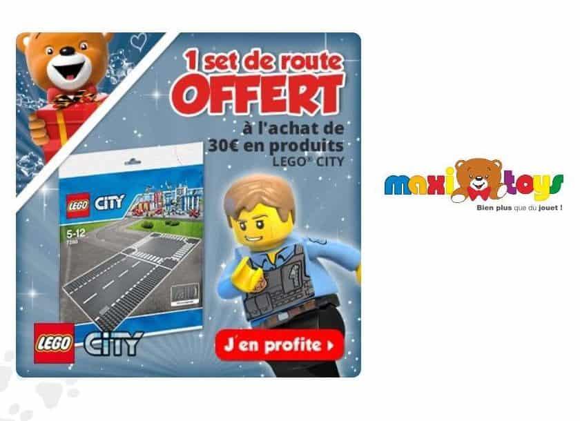 30€ de Lego City = 2 plaques routes Lego gratuites