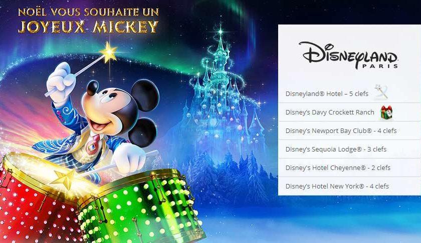 35% à 40% de remise sur les séjours Disneyland en Vente Privée carte cadeau de 100€