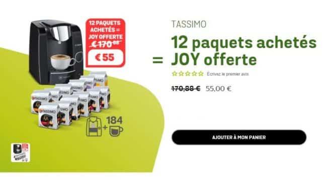 55€ machine Bosch Tassimo Joy T45 et 12 paquets de dosette