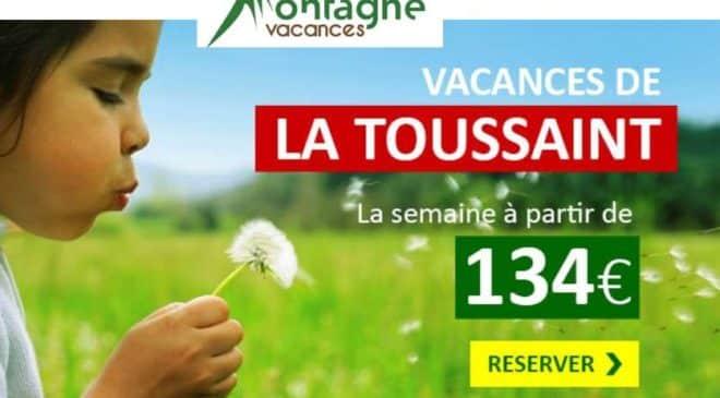 18€ de remise sur les séjours vacances de la Toussaint de Montagne Vacances