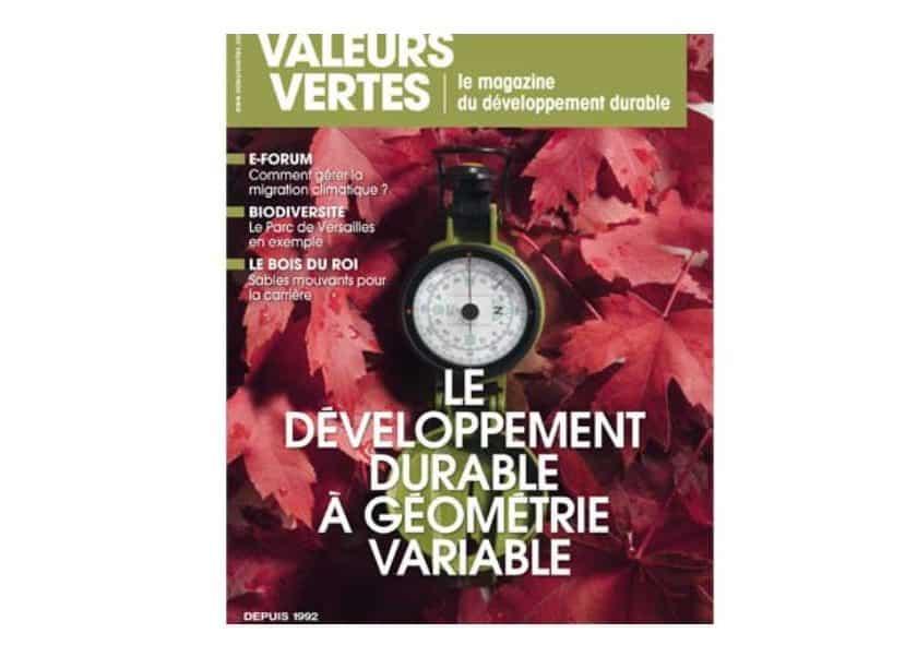 Abonnement Valeurs Vertes magazine pas cher