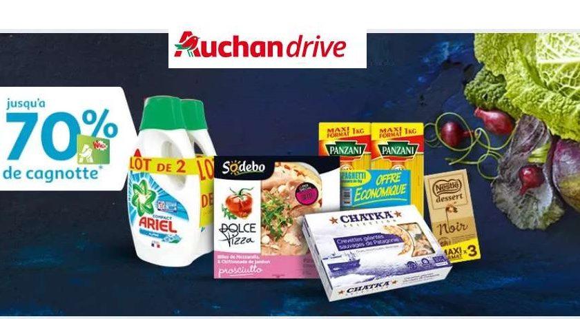 Auchan Drive jusqu'à 70% du prix cagnoté
