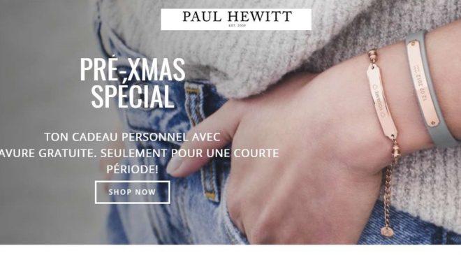 Bon plan gravure offerte sur les bracelets Paul Hewitt