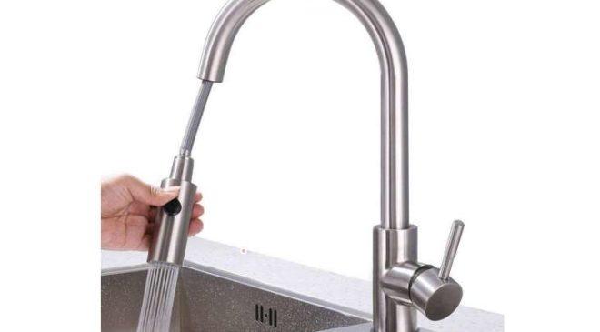 Desfau robinet pivotant douchette extractible
