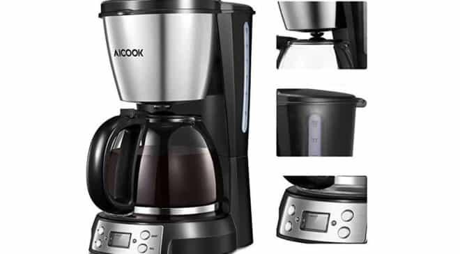 FLASH cafetière filtre programmable Aicook 12 tasses