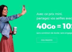 Forfait 40Go RED SFR à 10€ A VIE / appels, SMS et MMS illimité