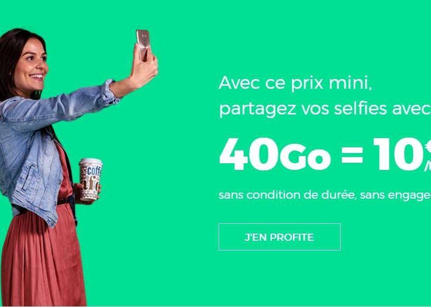 Forfait 40Go RED SFR à 10€ A VIE