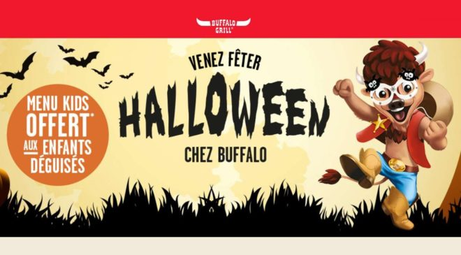 Halloween chez Buffalo Grill menu kid offert