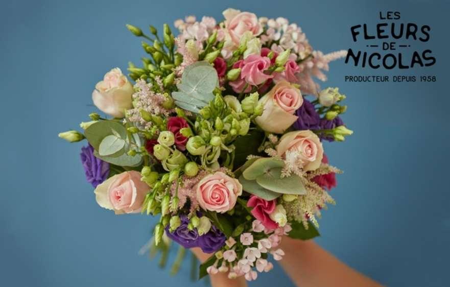 livraison de fleurs moins ch re bon d achat 15 30 fleurs de nicolas. Black Bedroom Furniture Sets. Home Design Ideas