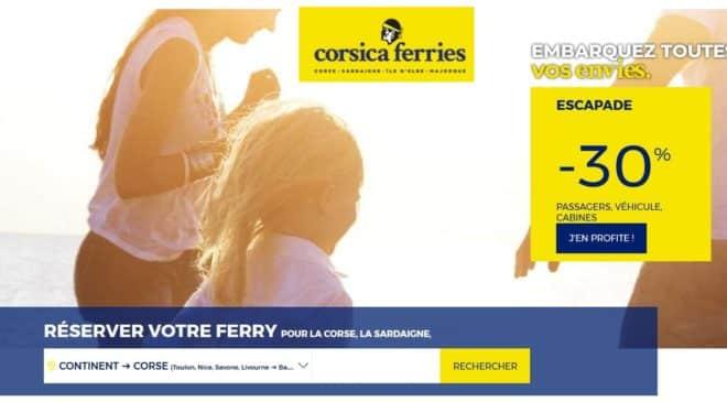 Offre Corsica Ferries -30% Corse et Sardaigne