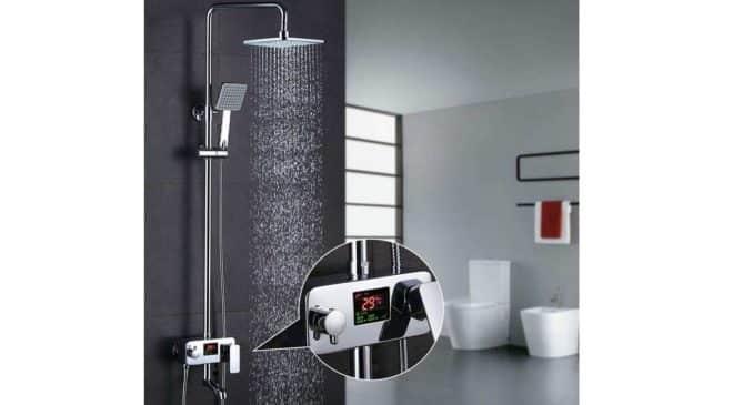 PAS CHERE colonne de douche avec affichage température LCD Homelody