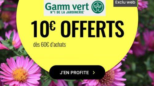 Remise de 10€ sur Gamm Vert