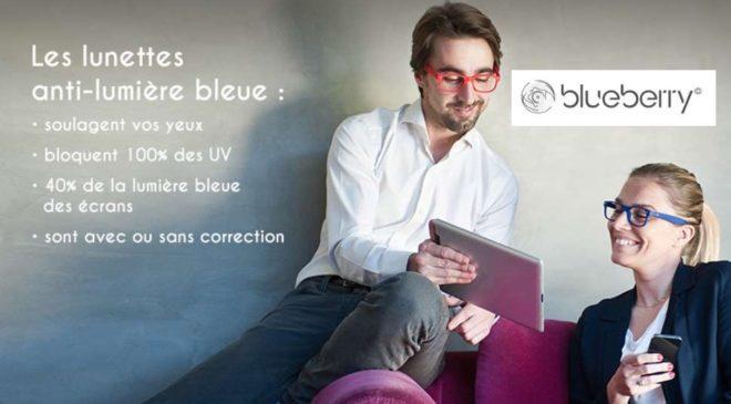 Rosedeal Blueberry remise sur les lunettes anti lumière bleue