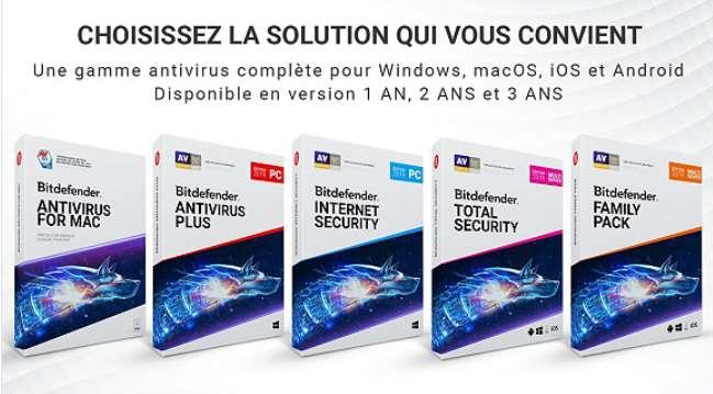 Vente Privée Bitdefender logiciels moitié prix