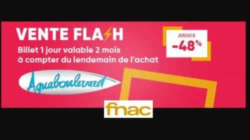 Vente flash billetterie Aquaboulevard