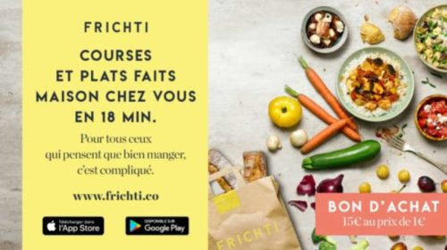 Vente privée Frichti plats maison et courses livrées chez vous