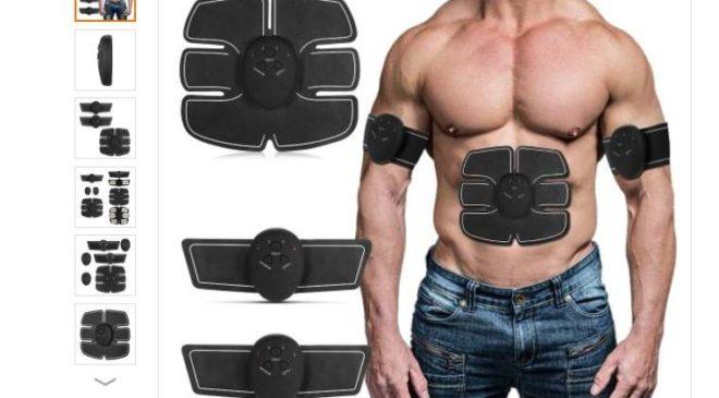 appareil électro-stimulateur musculaire abdominaux et bras