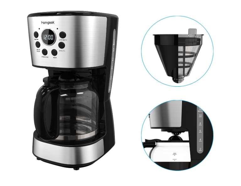 cafetière filtre programmable 12 tasses Homgeek