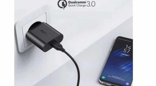 chargeur Quick Charge 3 secteur Aukey 19,5W