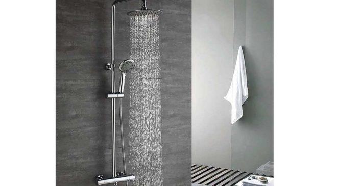 colonne de douche thermostatique avec douchette 3 jets Homelody