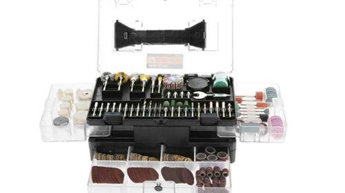 kit de 349 accessoires Meterk pour outil multifonctions rotatif