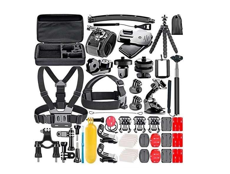 kit étui avec accessoires GoPro camera sport Neewer 53 pièces