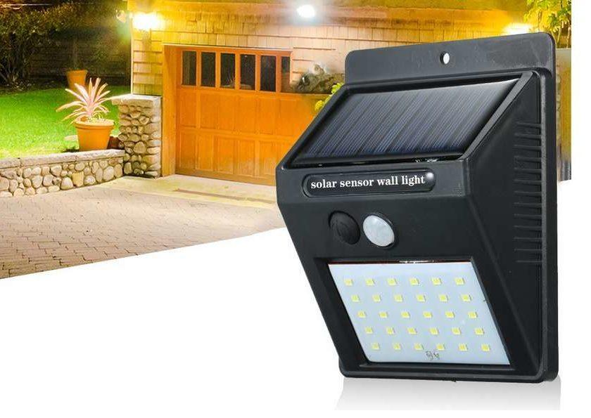 lampe solaire avec détecteur de mouvement 20 LED