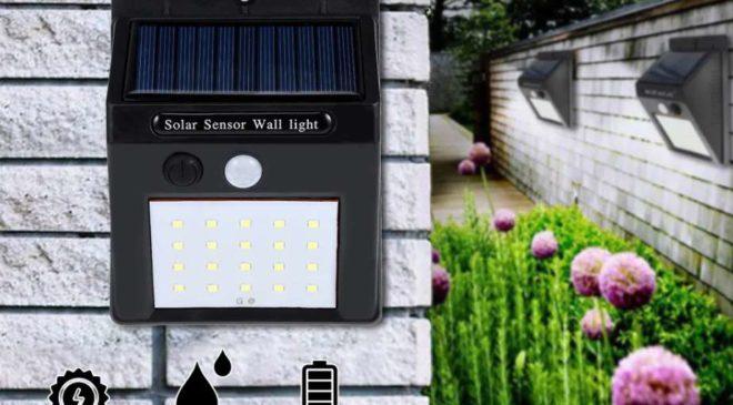 lampe solaire avec détecteur de mouvement extérieur 20 LED