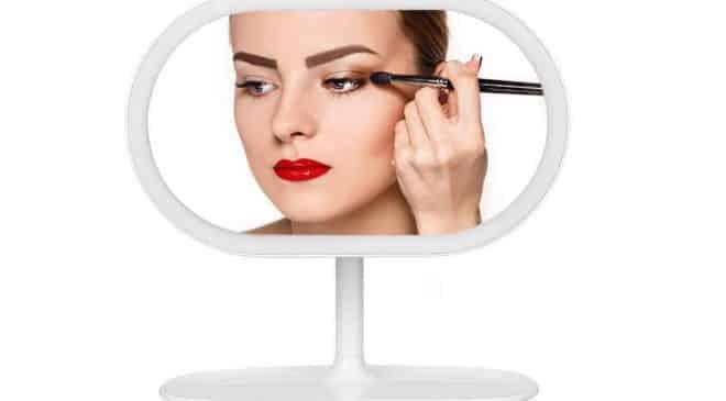 miroir de maquillage lumineux rotatif rechargeable pas cher Kranich