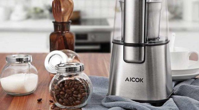 moulin à café électrique acier Aicok 220W pas cher