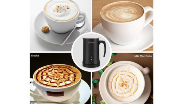 mousseur à lait électrique Homgeek pas cher pour lait chaud, cappuccino, latte