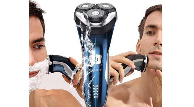 rasoir rechargeable étanche 3 têtes flexibles Wet&Dry SweetLF
