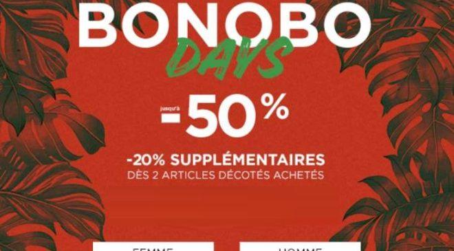 remise en plus sur les Bonobo Days