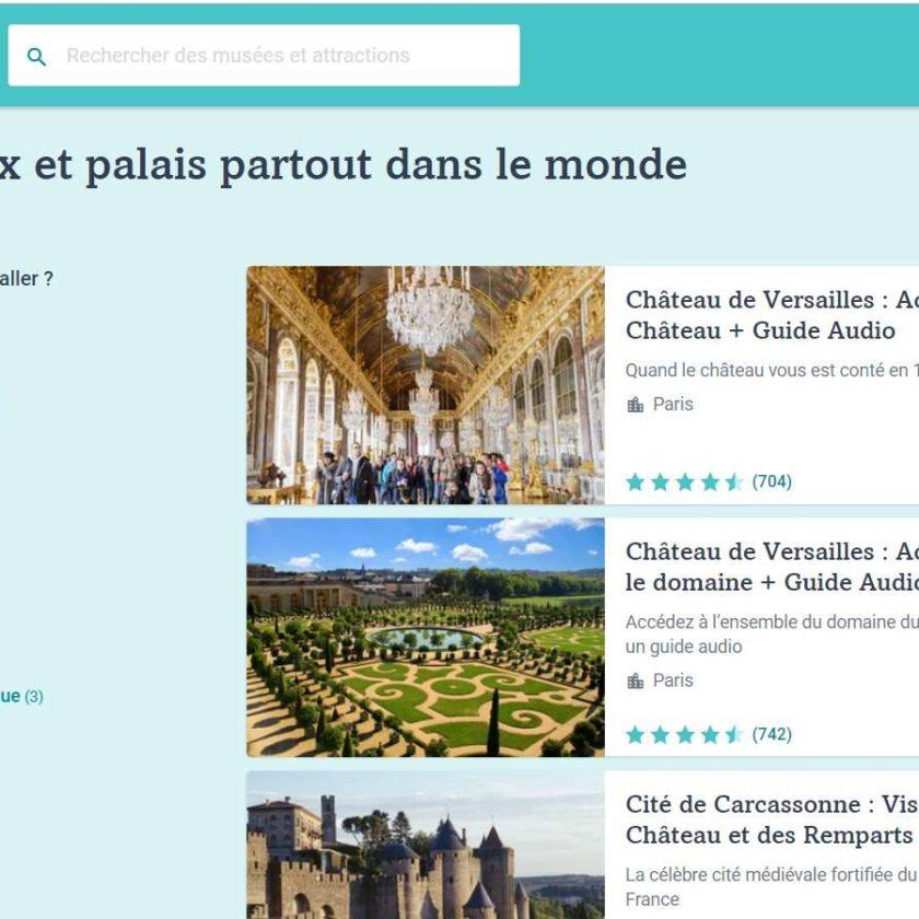remise sur 90 châteaux et palais en France et Europe