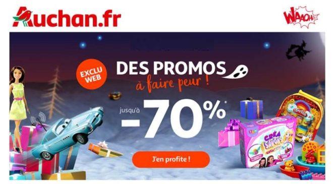 remise sur les jouets avec les promos à faire peur Auchan