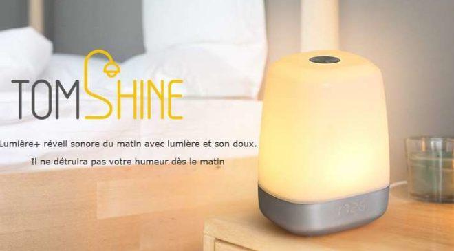 réveil simulateur d'aube rechargeable Tomshine pas cher