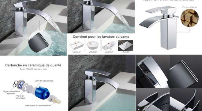 robinet de salle de bain avec sortie cascade Homelody