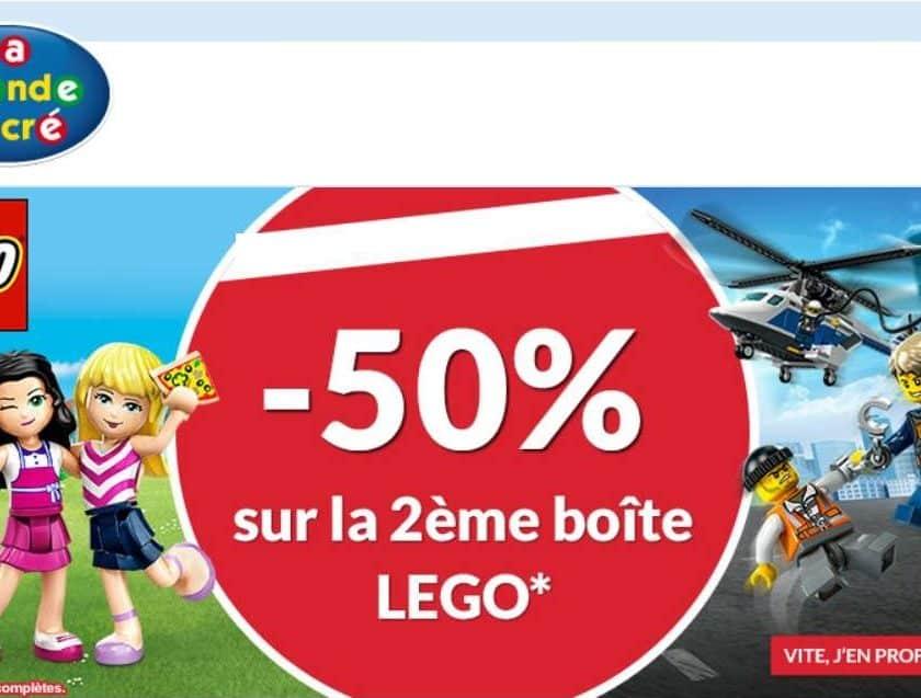 seconde boite de Lego à moitié prix sur La Grande Récré