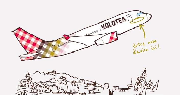 votre nom sur un avion Volotea