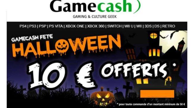 10€ de remise sur Gamecash