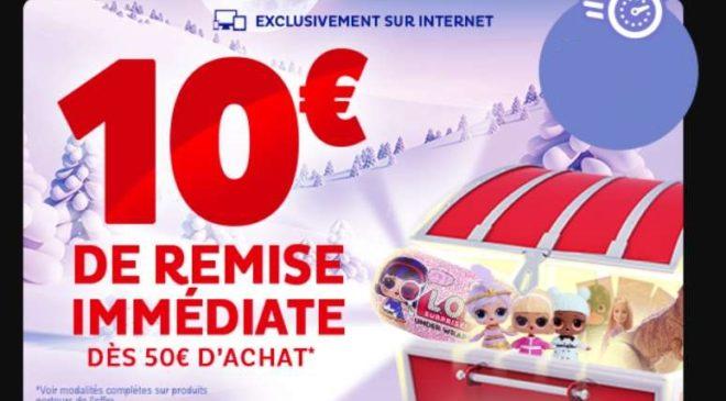 10€ de remise vos achats Toys'R Us