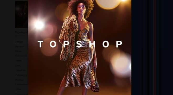 20% de remise sur le site Topshop